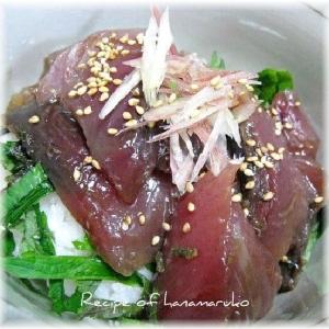 かつお(鰹)の漬け海鮮丼