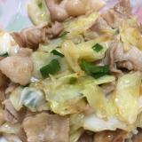 豚バラ肉とキャベツの辛甘酢炒め
