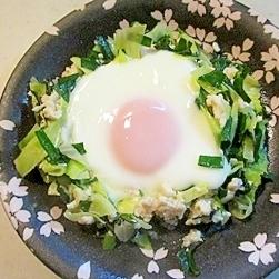 簡単!野菜とそぼろの目玉焼き