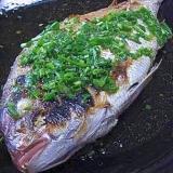 鯛のグリル ネギぽん酢ドレッシング