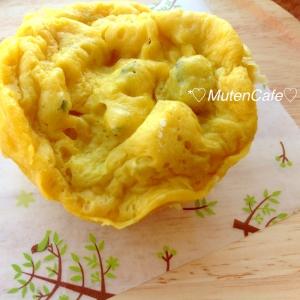 【無添加】簡単!5分で出来るかぼちゃ蒸しパン♡