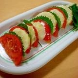 じゃがいも・トマト・大葉のカプレーゼ風サラダ♪