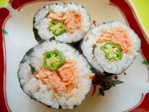 鮭とオクラの巻き寿司