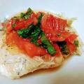 サラダチキンの梅肉トマトソース