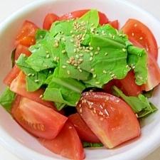 *ルコラとトマトのオリーブオイルサラダ*