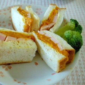 ☆ゆでかぼちゃとソーセージのサンドイッチ☆