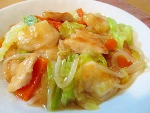 余ったお餅と野菜で♪鶏むね肉の中華あんかけ