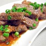 にんにく醤油で牛肉ステーキ♪