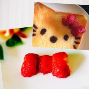 【簡単!】イチゴでリボン!  ケーキやトーストに!