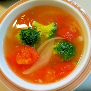 いろいろ野菜のすましスープ
