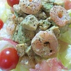 ぷりぷり海老とアボガドのサラダ