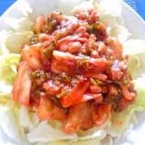 納豆の食べ方-キムチ&メカブで☆ねばつるサラダ♪