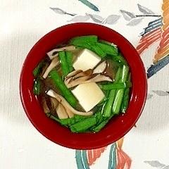 にらと舞茸のお味噌汁