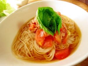 素麺☆トマトとツナの冷製素麺