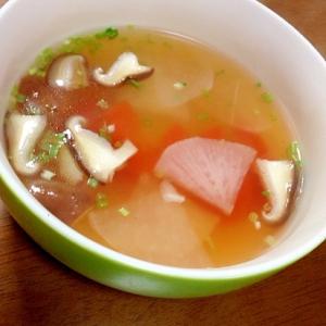 大根、人参、椎茸のスープ