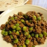 【本場家庭の味】グリーンピースとキーマのカレー