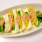 堅とうふと海老のサラダ