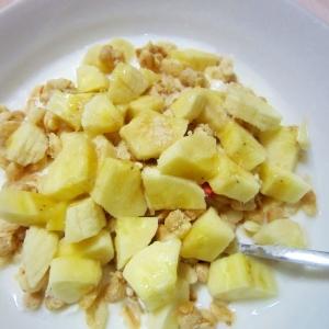 フルグラとバナナのデザート