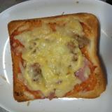 食パンでピザパン