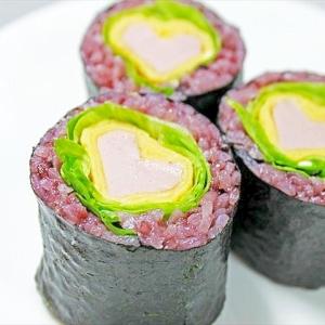 春色のハート巻き寿司★バレンタインに!