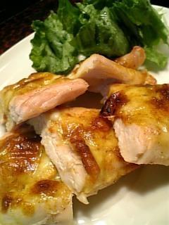 トースターで簡単!鶏ささみのカレーチーズ焼き♪