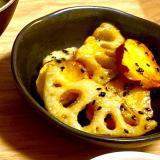 蓮根とさつま芋の甘酢炒め