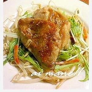 鶏肉ステーキワサビソース