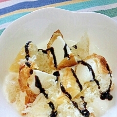 【キレイ応援朝食】アイスメロンチョコヨーグルト♪