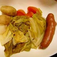 【圧力鍋で】春野菜の白ワイン蒸し