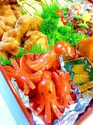【お弁当】定番!タコさんウインナー