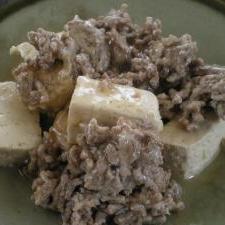 豆腐と挽肉の中華あんかけ