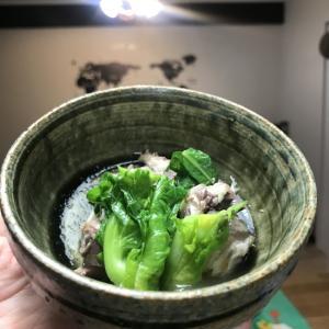 小松菜と鯖缶の煮物