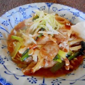 小松菜と豆腐の和風あんかけ焼きそば