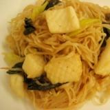 簡単!タイ米麺でパッタイ風イカのオイスター焼きそば