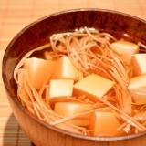 干しえのきで料亭風☆豆腐のお吸い物