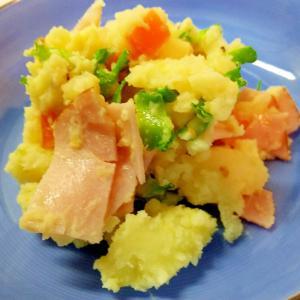 シカクマメ(四角豆)のポテトサラダ