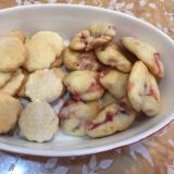卵、乳不使用☆豆腐クッキーとイチゴふんわりクッキー