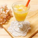 オレンジ飲むゼリードリンク食物繊維いり