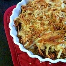 カリカリポテトと牛肉ミンチのチーズグラタン