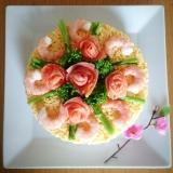 懐かしいあの味♡ちらし寿司ケーキ