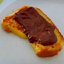 チョコがとろけるフレンチトースト