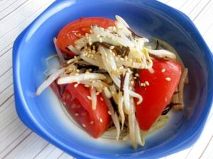 簡単美味い☆ひじきとトマトともやしのサッパリサラダ