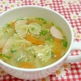 マカロニのコンソメスープ