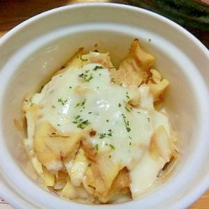 レンジ&トースターで調理、竹の子の みそチーズ焼き