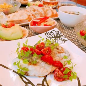 サワラのムニエル☆フレッシュトマトソース