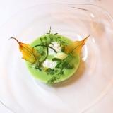春のグリーン野菜のクーリとストラッチャテッラ