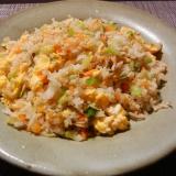 人参長ネギ桜エビと卵のパラパラタイ米炒飯
