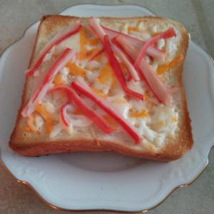 カニカマチーズトースト
