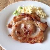 豚ロース薄切り肉de味噌漬け焼き♪