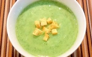 ほうれん草とブロッコリーのポタージュスープ